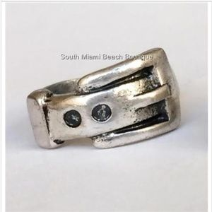 Jewelry - Belt Buckle Ring Band Silver Gold Size 6 Cowgirl